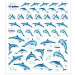 Sticker King - Clear Stickers - Blue Dolphins