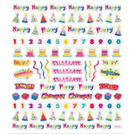 Sticker King - Clear Stickers - Birthday Icons