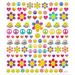 Sticker King - Clear Stickers - Retro Symbols