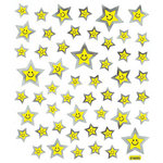 Sticker King - Cardstock Stickers with Foil Accents - Happy Face Stars