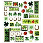 Sticker King - Cardstock Stickers - Clovers with Horse Shoes