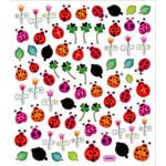 Sticker King - Clear Stickers with Foil Accents - Lady Bugs