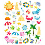 Sticker King - Clear Stickers with Foil Accents - Summer Icons
