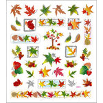 Sticker King - Clear Stickers with Foil Accents - Fall Leaves