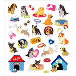 Sticker King - Clear Stickers with Foil Accents - Playful Pooches