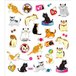 Sticker King - Clear Stickers with Foil Accents - Love Your Kittens