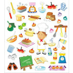 Sticker King - Clear Stickers - Cooking