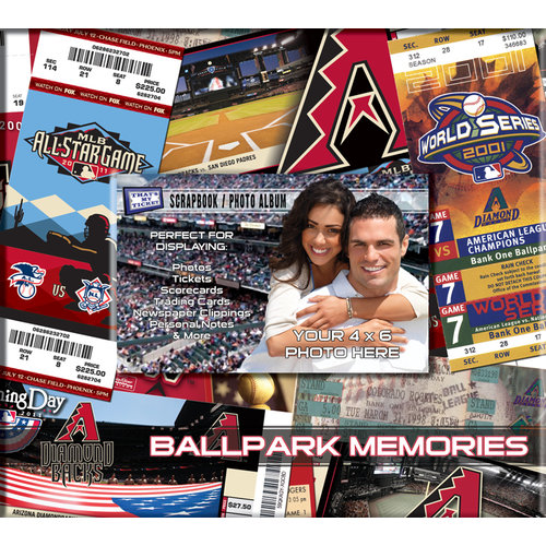 That's My Ticket - Major League Baseball Collection - 8 x 8 Postbound Scrapbook and Photo Album - Arizona Diamondbacks