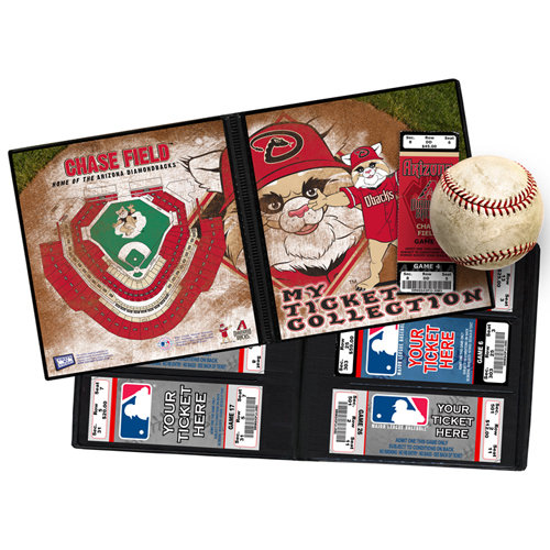 That's My Ticket - Major League Baseball Collection - 8 x 8 Mascot Ticket Album - Arizona Diamondbacks - Baxter the Bobcat