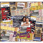 That's My Ticket - Major League Baseball Collection - 12 x 12 Postbound Scrapbook and Photo Album - Atlanta Braves