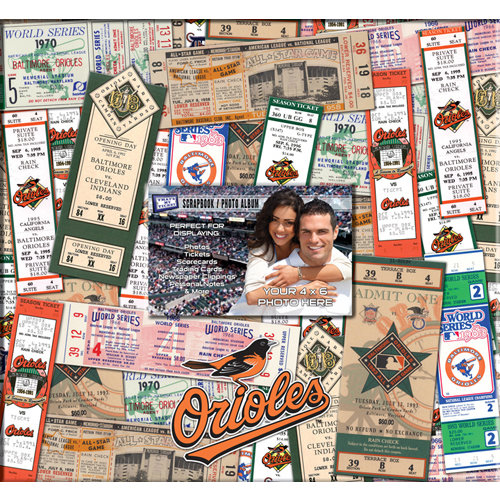 That's My Ticket - Major League Baseball Collection - 12 x 12 Postbound Scrapbook and Photo Album - Baltimore Orioles