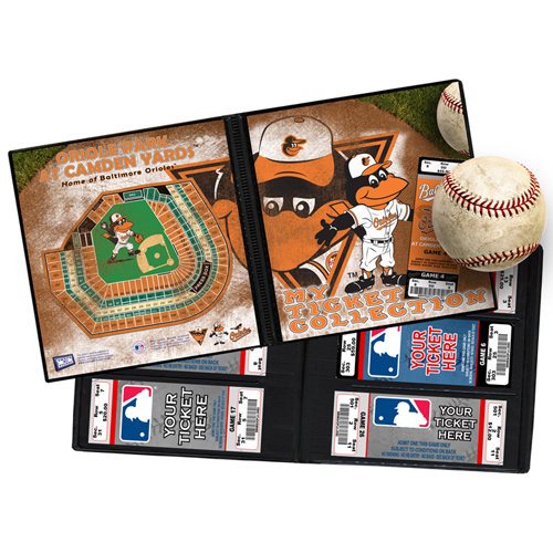 That's My Ticket - Major League Baseball Collection - 8 x 8 Mascot Ticket Album - Baltimore Orioles - The Oriole Bird