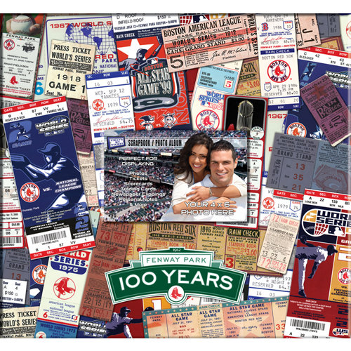 That's My Ticket - Major League Baseball Collection - 12 x 12 Postbound Scrapbook and Photo Album - Boston Red Sox - Fenway Park - 100th Anniversary