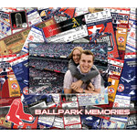 That's My Ticket - Major League Baseball Collection - 8 x 8 Postbound Scrapbook and Photo Album - Boston Red Sox