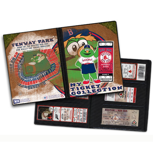 That's My Ticket - Major League Baseball Collection - Mascot Ticket Album - Boston Red Sox - Wally The Green Monster