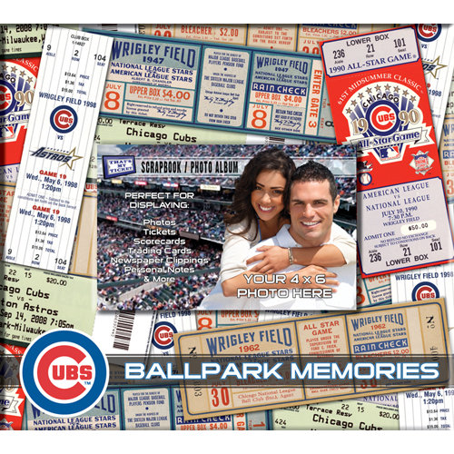 That's My Ticket - Major League Baseball Collection - 8 x 8 Postbound Scrapbook and Photo Album - Chicago Cubs