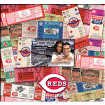 That's My Ticket - Major League Baseball Collection - 12 x 12 Postbound Scrapbook and Photo Album - Cincinnati Reds
