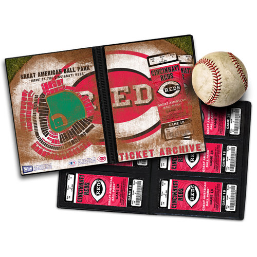 That's My Ticket - Major League Baseball Collection - 8 x 8 Ticket Album - Cincinnati Reds