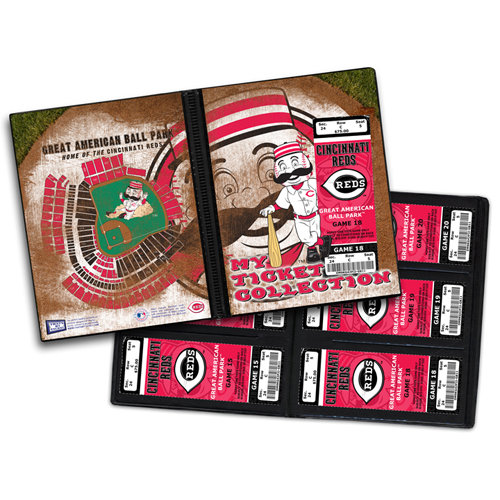 That's My Ticket - Major League Baseball Collection - Mascot Ticket Album - Cincinnati Reds - Mr. Redlegs