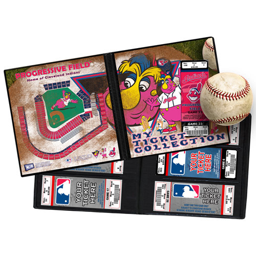 That's My Ticket - Major League Baseball Collection - Mascot Ticket Album - Cleveland Indians - Slider