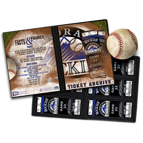 That's My Ticket - Major League Baseball Collection - Ticket Album - Colorado Rockies
