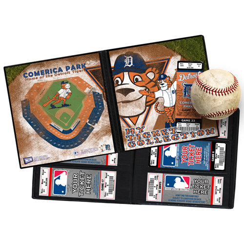 That's My Ticket - Major League Baseball Collection - Mascot Ticket Album - Detroit Tigers - Paws