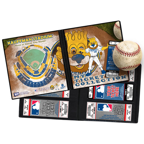 That's My Ticket - Major League Baseball Collection - 8 x 8 Mascot Ticket Album - Kansas City Royals - Sluggerrr