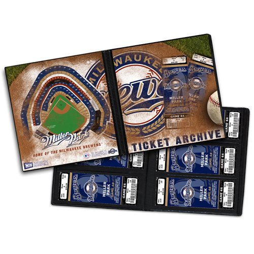 That's My Ticket - Major League Baseball Collection - 8 x 8 Ticket Album - Milwaukee Brewers