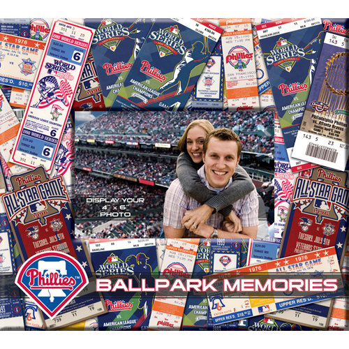That's My Ticket - Major League Baseball Collection - 8 x 8 Postbound Scrapbook and Photo Album - Philadelphia Phillies