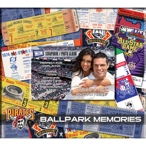 That's My Ticket - Major League Baseball Collection - 8 x 8 Postbound Scrapbook and Photo Album - Pittsburgh Pirates