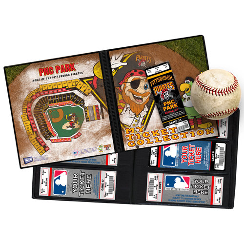 That's My Ticket - Major League Baseball Collection - Mascot Ticket Album - Pittsburgh Pirates - Captain Jolly Roger and Pirate Parrot