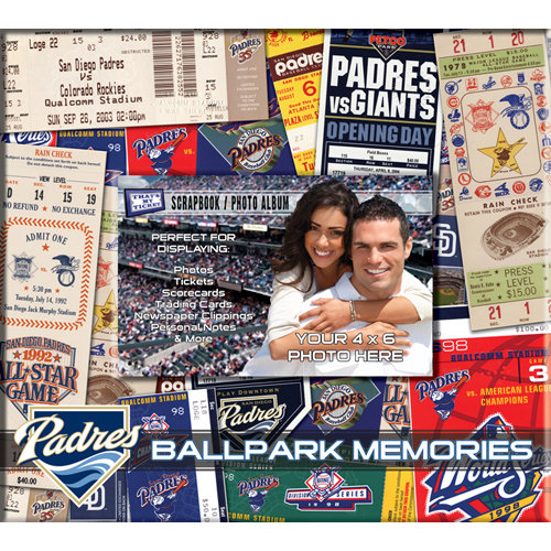 That's My Ticket - Major League Baseball Collection - 8 x 8 Postbound Scrapbook and Photo Album - San Diego Padres