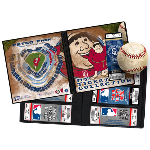 That's My Ticket - Major League Baseball Collection - 8 x 8 Mascot Ticket Album - San Diego Padres - Swinging Friar