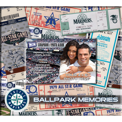 That's My Ticket - Major League Baseball Collection - 8 x 8 Postbound Scrapbook and Photo Album - Seattle Mariners