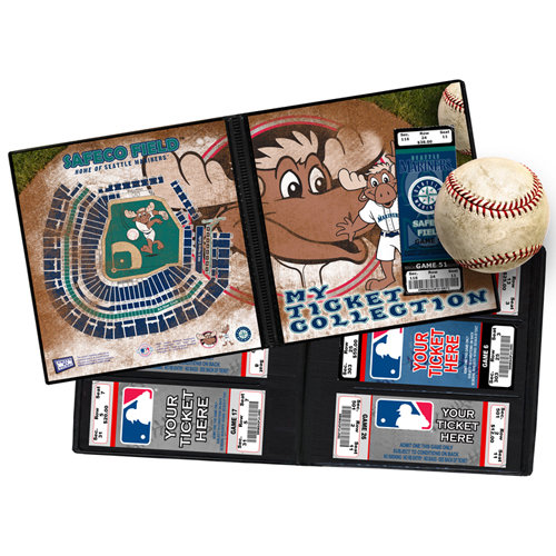 That's My Ticket - Major League Baseball Collection - Mascot Ticket Album - Seattle Mariners - Mariner Moose