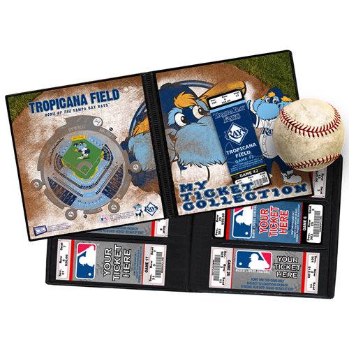 That's My Ticket - Major League Baseball Collection - 8 x 8 Mascot Ticket Album - Tampa Bay Rays - Raymond
