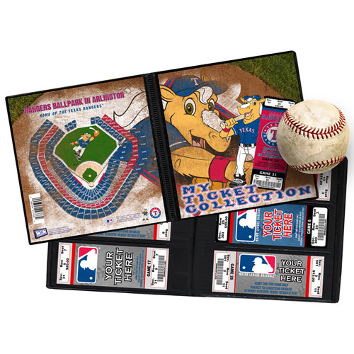 That's My Ticket - Major League Baseball Collection - Mascot Ticket Album - Texas Rangers - Rangers Captain