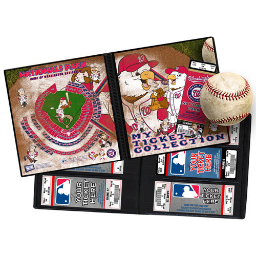 That's My Ticket - Major League Baseball Collection - Mascot Ticket Album - Washington Nationals - Screech and The Presidents