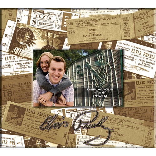 That's My Ticket - 8 x 8 Postbound Scrapbook and Photo Album - Elvis Presley