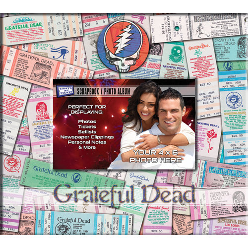 That's My Ticket - 8 x 8 Postbound Scrapbook and Photo Album - Grateful Dead