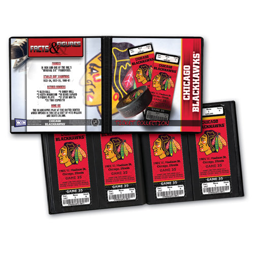That's My Ticket - National Hockey League Collection - 8 x 8 Ticket Album - Chicago Blackhawks