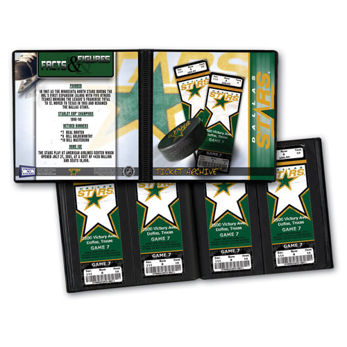 That's My Ticket - National Hockey League Collection - Ticket Album - Dallas Stars