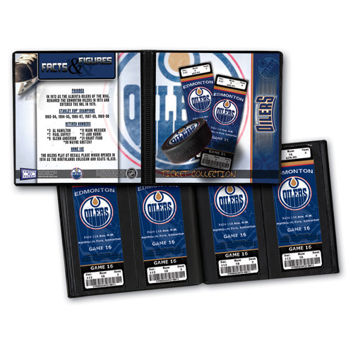 That's My Ticket - National Hockey League Collection - 8 x 8 Ticket Album - Edmonton Oilers