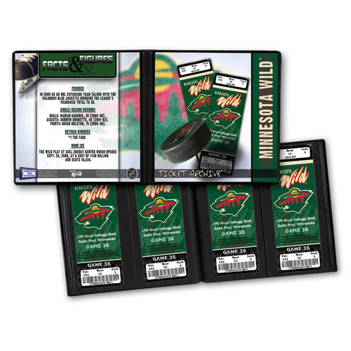 That's My Ticket - National Hockey League Collection - 8 x 8 Ticket Album - Minnesota Wild