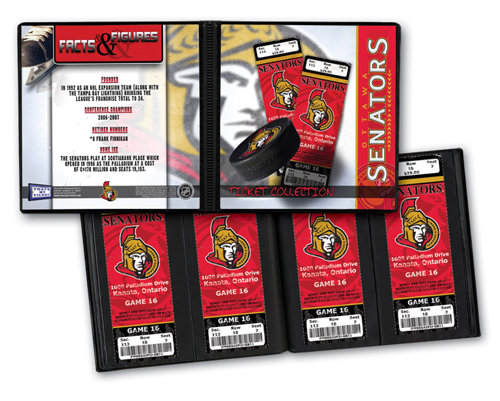 That's My Ticket - National Hockey League Collection - 8 x 8 Ticket Album - Ottawa Senators