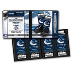 That's My Ticket - National Hockey League Collection - Ticket Album - Vancouver Canucks