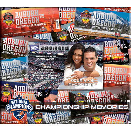 That's My Ticket - National Football League Collection - 8 x 8 Postbound Scrapbook and Photo Album - Auburn Tigers - Bowl Championship Series