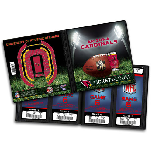 That's My Ticket - National Football League Collection - Ticket Album - Arizona Cardinals