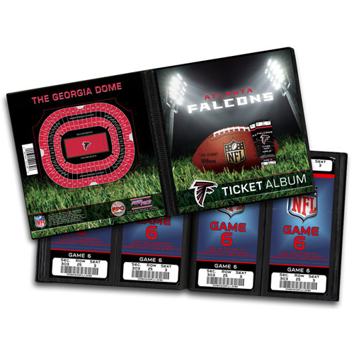 That's My Ticket - National Football League Collection - 8 x 8 Ticket Album - Atlanta Falcons