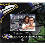 That's My Ticket - National Football League Collection - 8 x 8 Postbound Scrapbook and Photo Album - Baltimore Ravens
